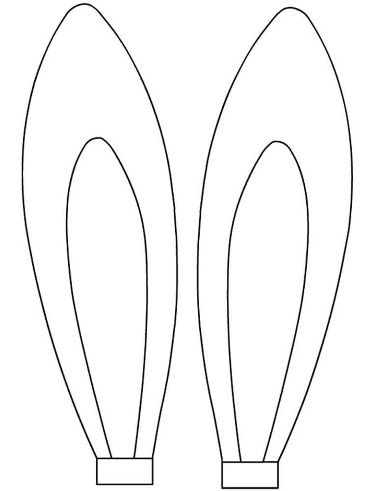 Easter Bunny Ears coloring pages. Free Printable Easter ...