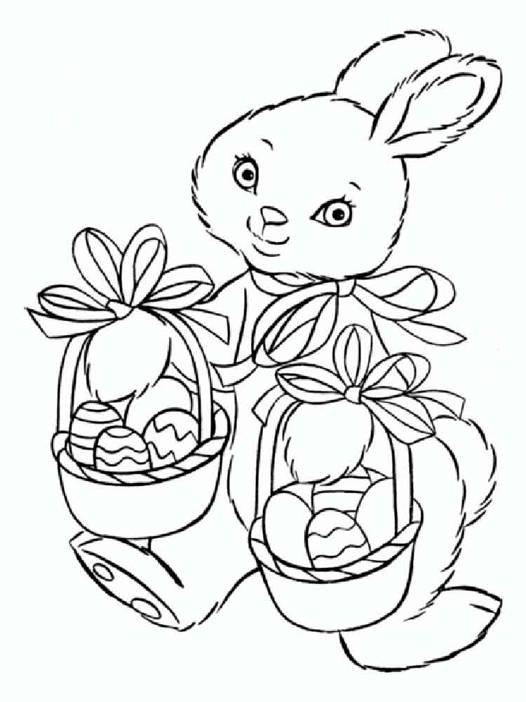 easter bunny coloring pages 10