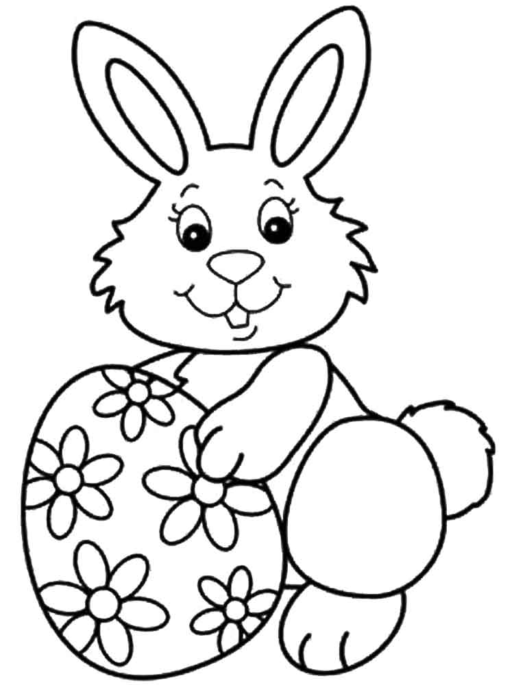 Easter Bunny Coloring Pages Kidsuki