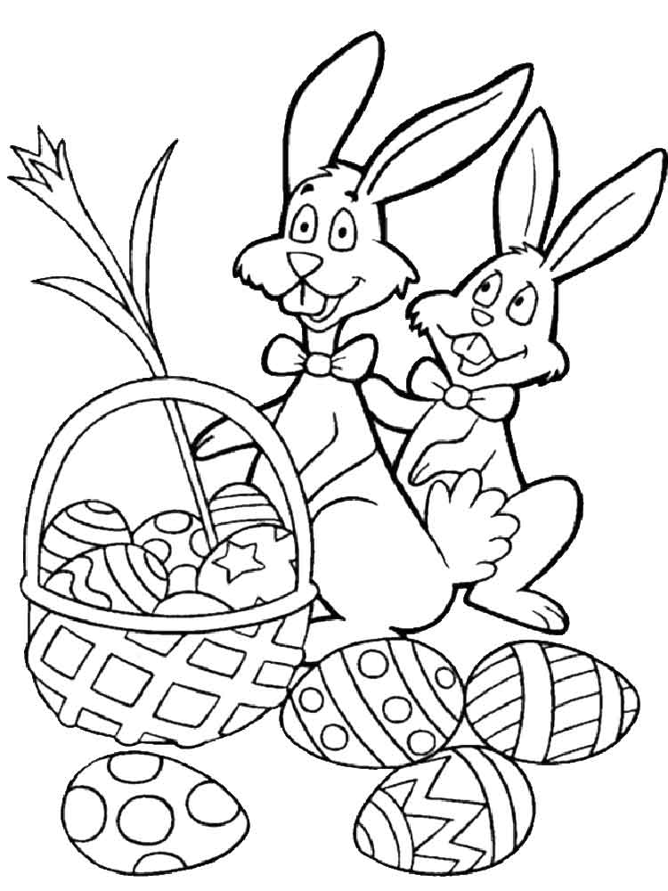 Easter Bunny coloring pages. Free Printable Easter Bunny ...