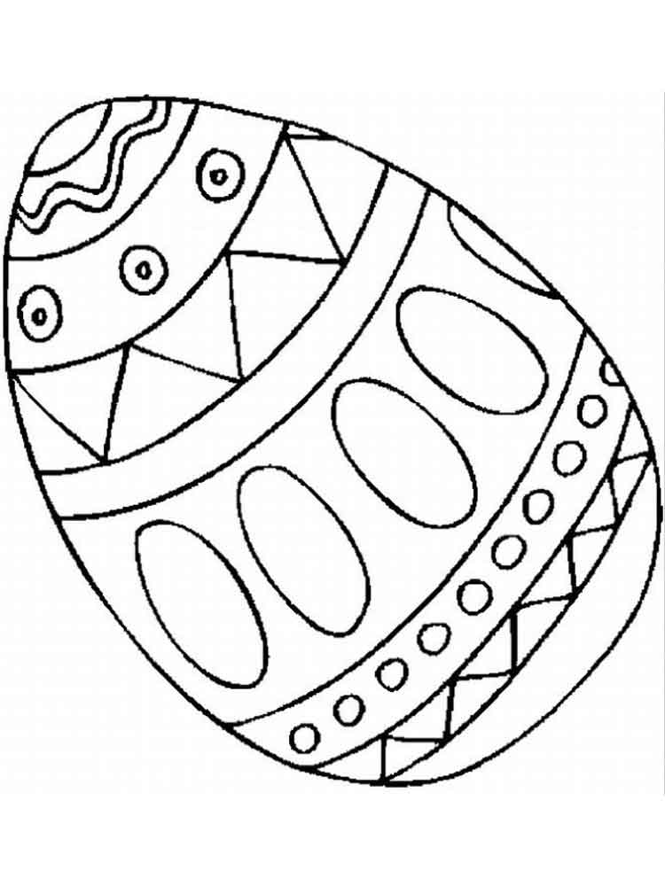 Easter Egg coloring pages. Free Printable Easter Egg ...