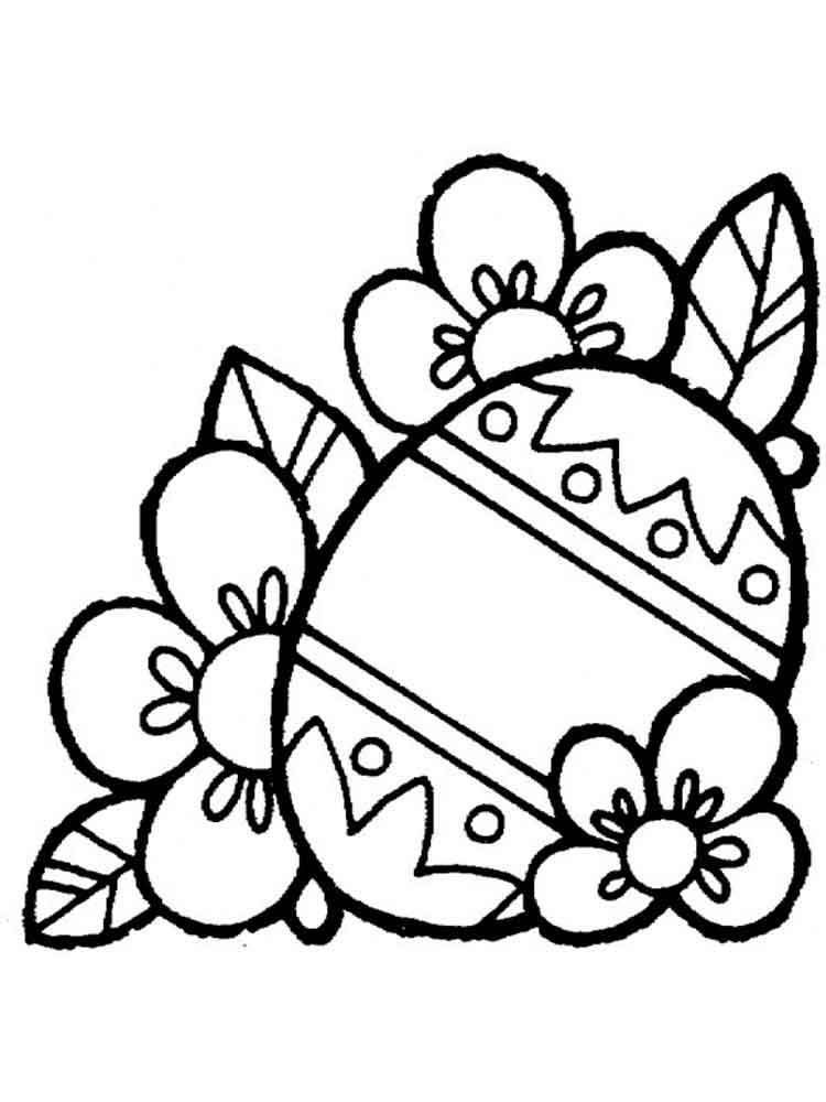 Easter Egg Coloring Pages Free Printable Easter Egg
