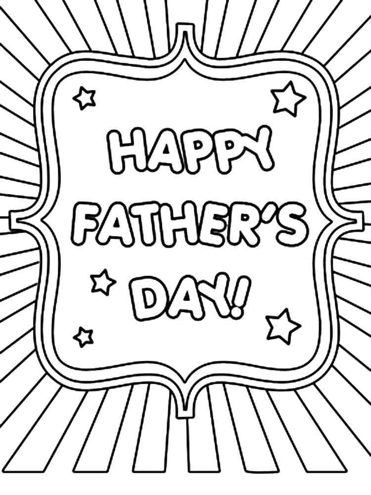 fathers day card worksheet - 750×1000