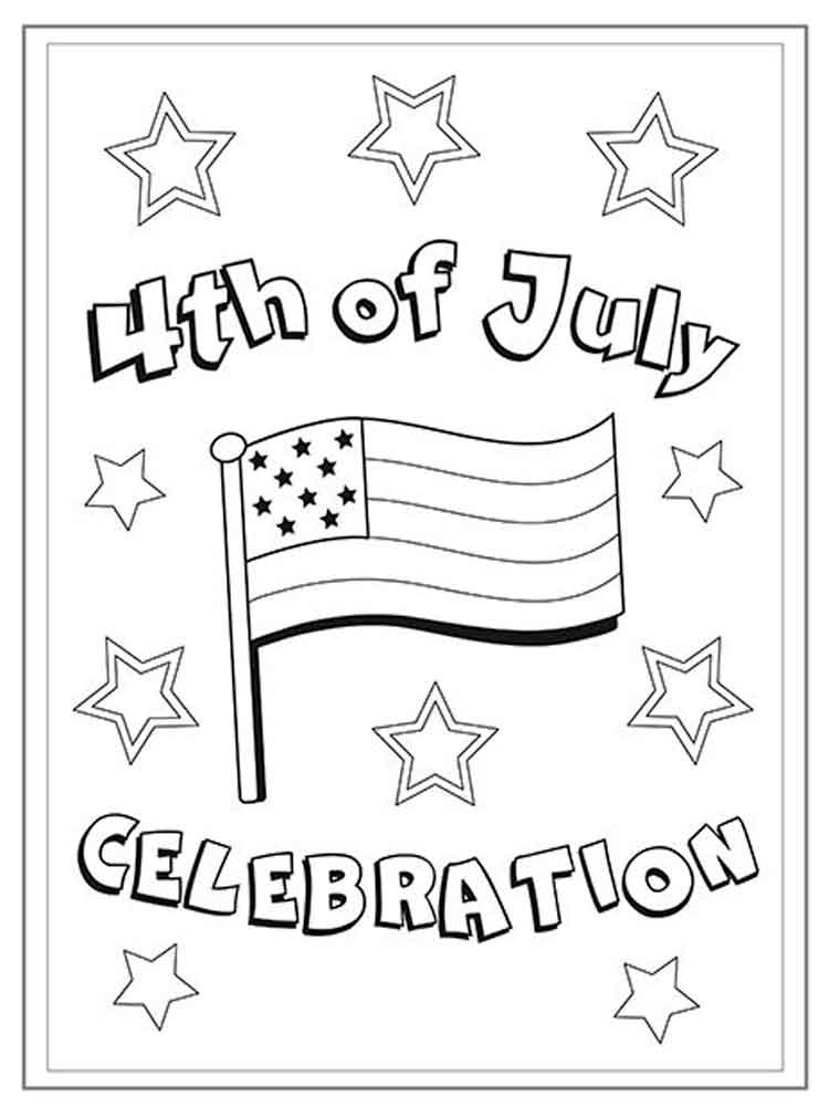 Fourth of July coloring pages Free Printable Fourth of