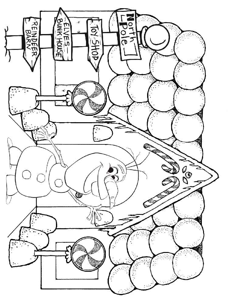 Gingerbread House coloring pages. Free Printable ...