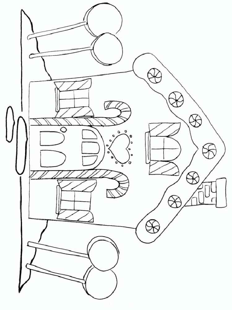 Gingerbread House coloring pages Free Printable Gingerbread House