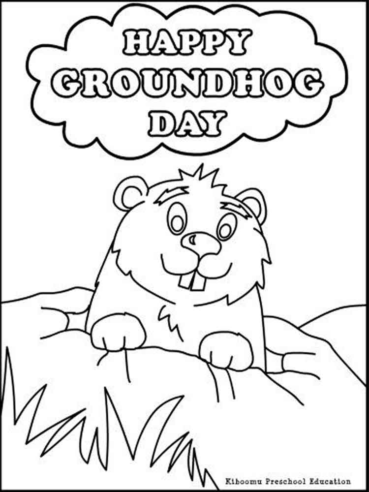 It is a picture of Inventive Ground Hog Coloring Sheet