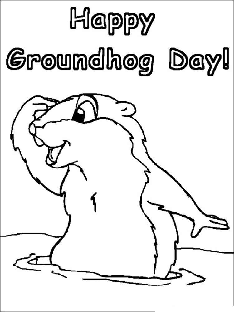 Groundhog Day coloring pages. Free Printable Groundhog Day ...