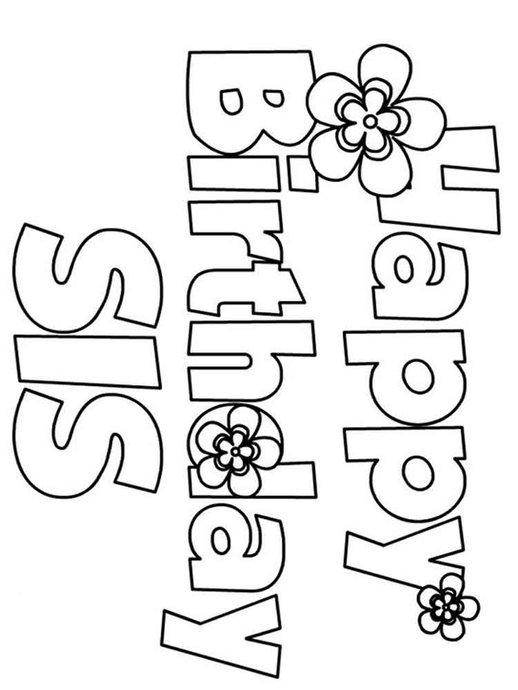 Happy Birthday coloring pages. Free Printable Happy ...
