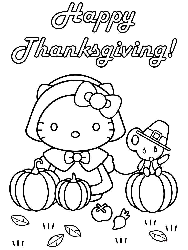 Happy Thanksgiving coloring pages. Free Printable Happy ...
