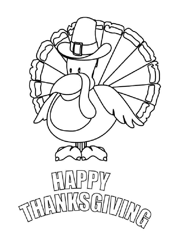 Happy Thanksgiving coloring pages. Free Printable Happy Thanksgiving ...