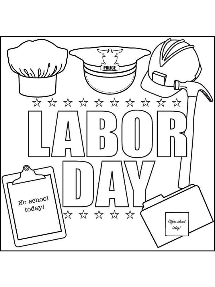 Labor Day Coloring Pages Free Printable Labor Day