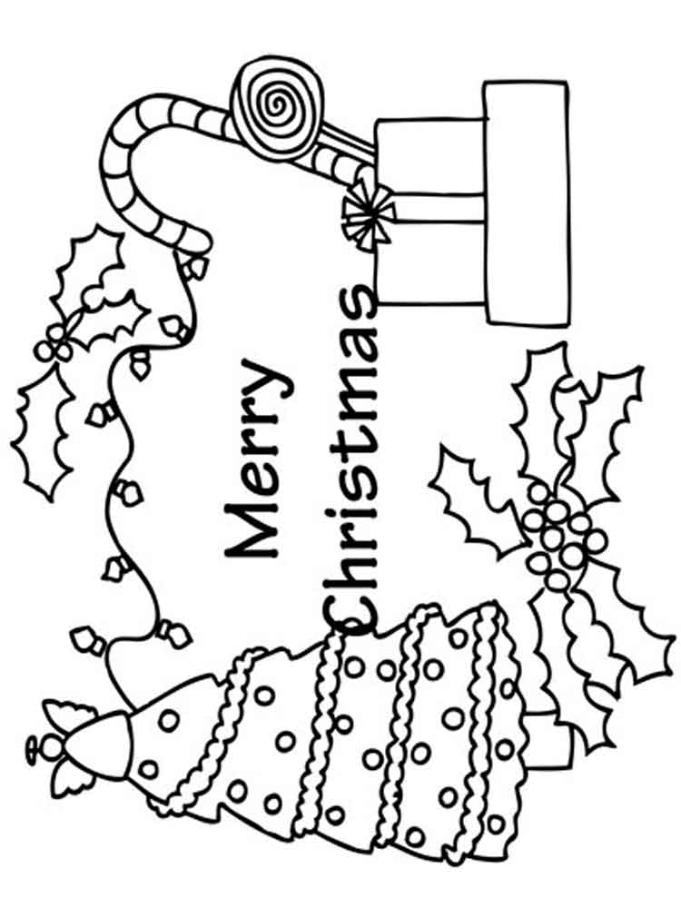Merry Christmas coloring pages. Free Printable Merry ...