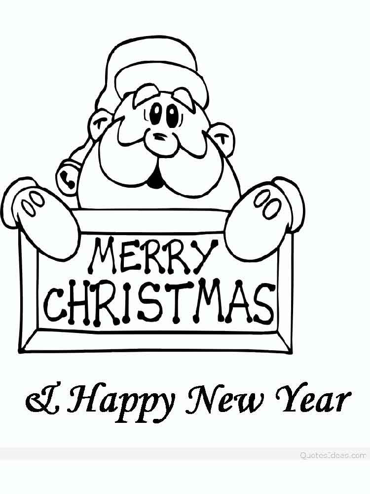 merry christmas coloring pages 9