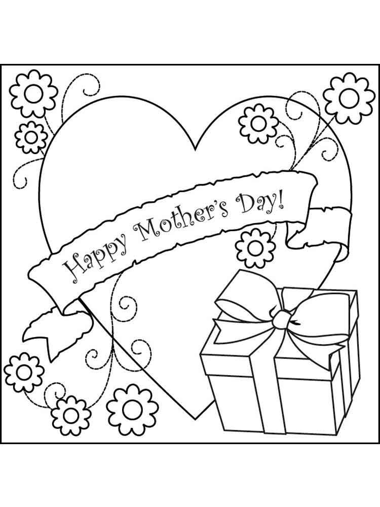 Mothers Day Coloring Pages Free Printable Mothers Day