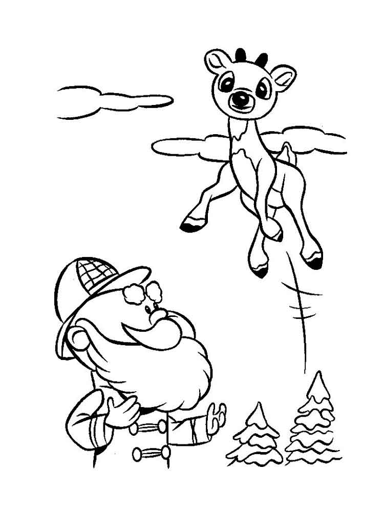 Rudolph coloring pages. Free Printable Rudolph coloring pages.