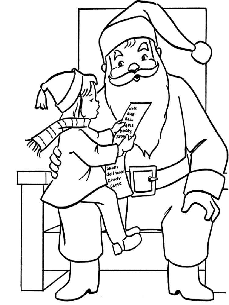 leprechaun santa claus christmas coloring pages