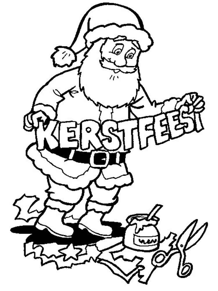 Santa Claus Coloring Pages Free Printable Santa Claus