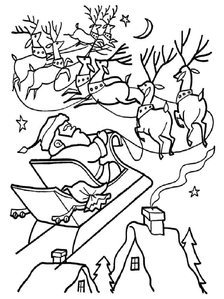 Santa Claus coloring pages. Free Printable Santa Claus ...