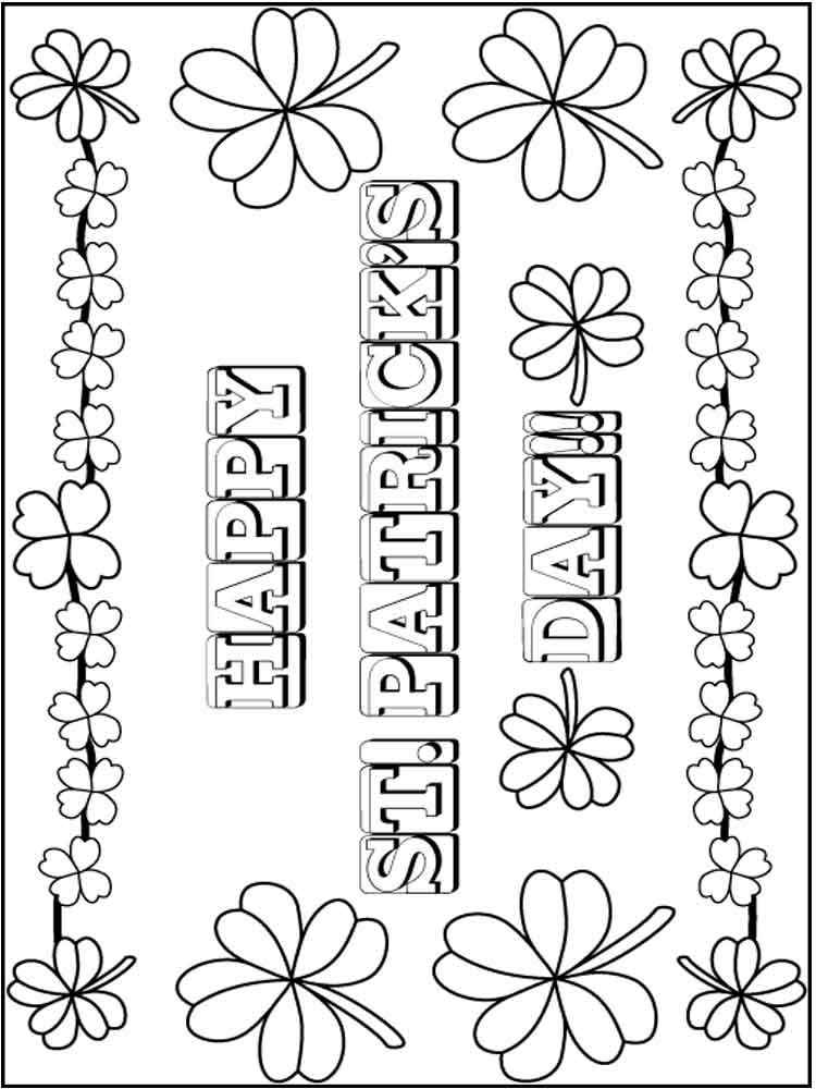 St Patrick S Day Coloring Pages Free Printable St