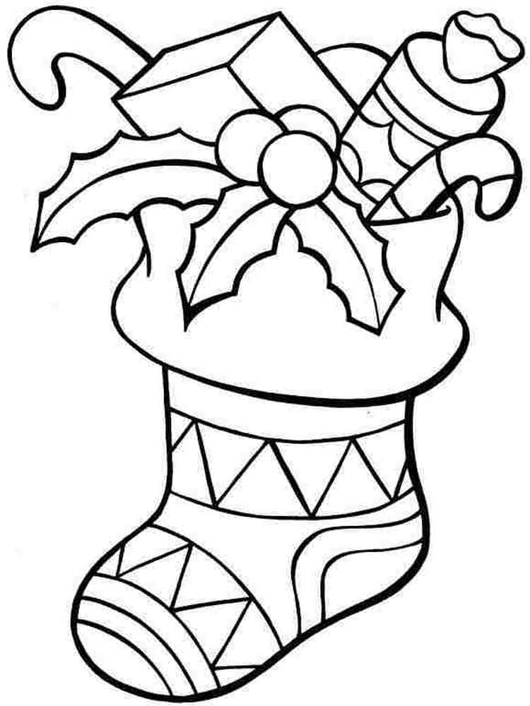 Stocking coloring pages. Free Printable Stocking coloring ...
