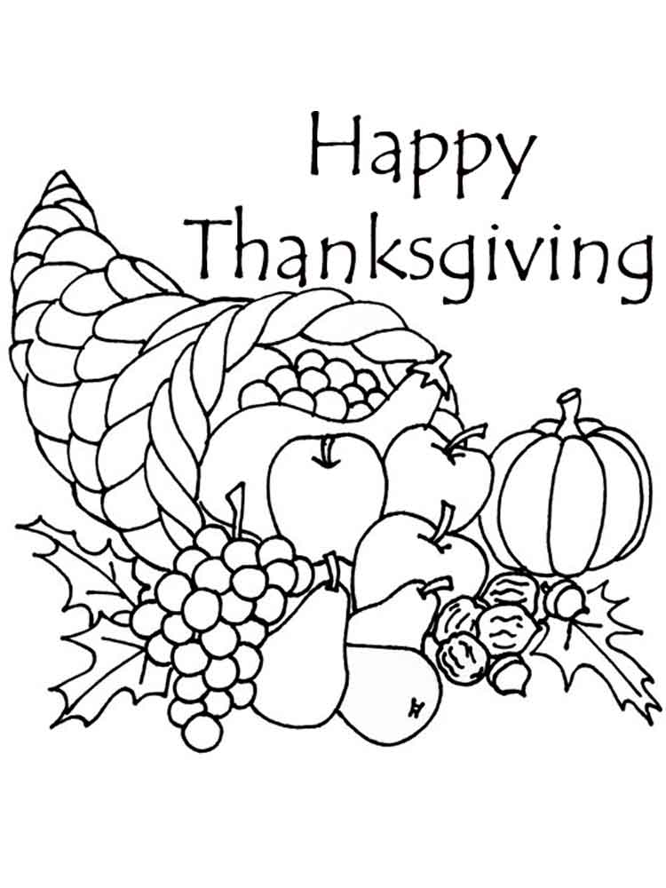 Thanksgiving Day coloring pages. Free Printable ...