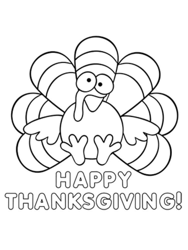 Thanksgiving Day coloring pages Free Printable
