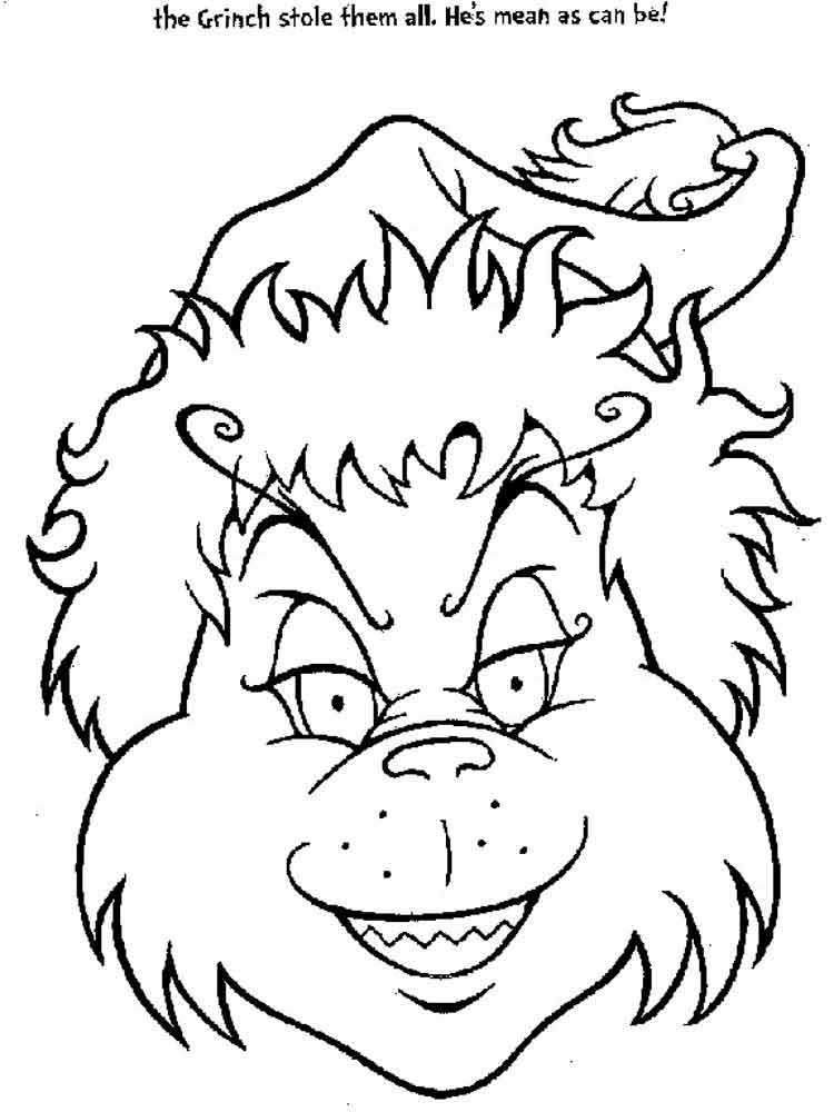 christmas coloring pages the grinch | The Grinch coloring pages. Free Printable The Grinch ...