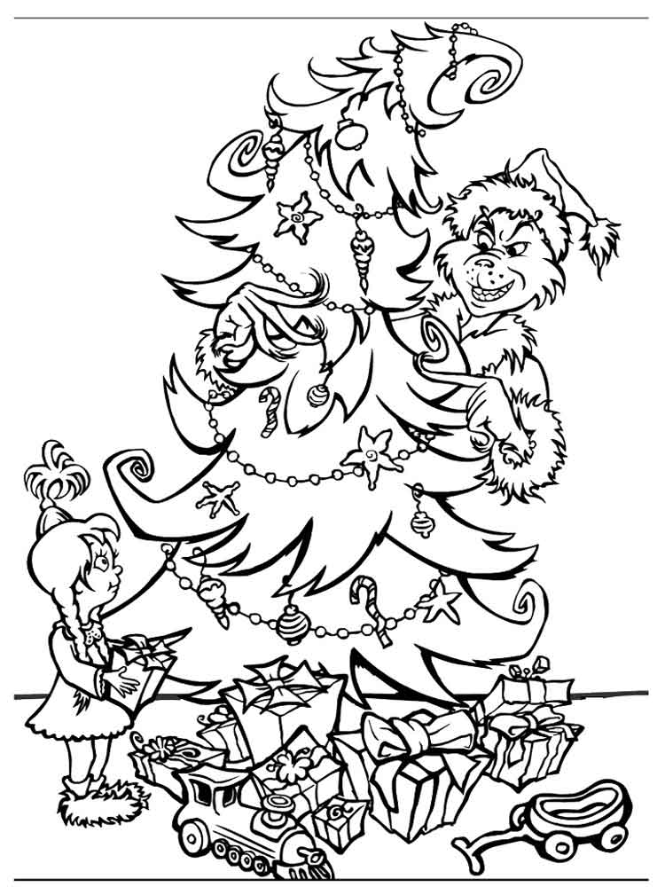 The Grinch Coloring Pages Free Printable The Grinch