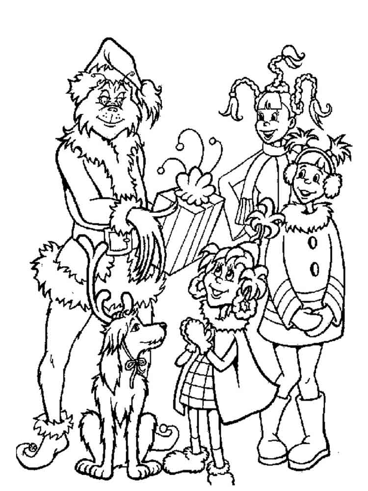 The Grinch coloring pages. Free Printable The Grinch ...