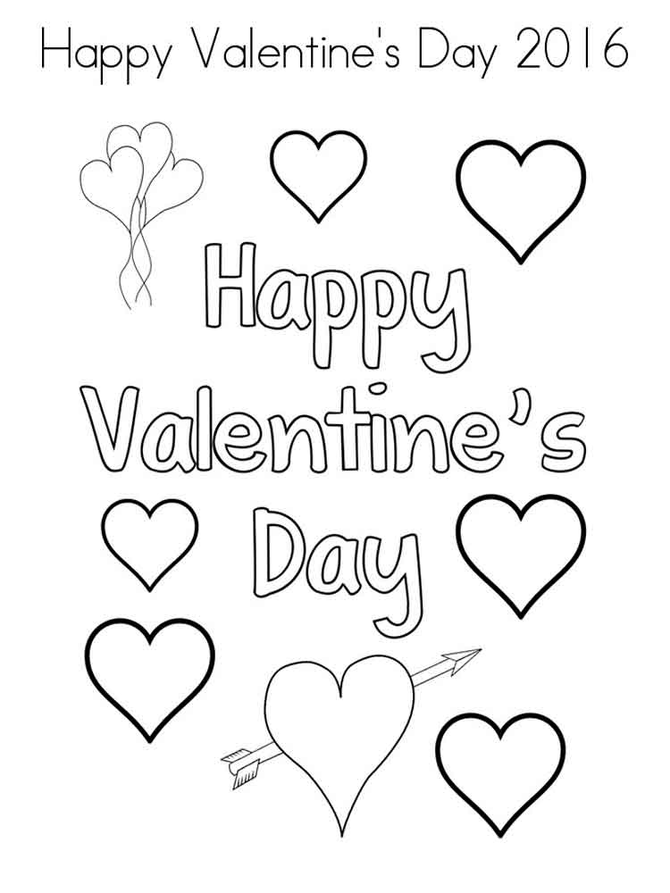 Valentine's Day coloring pages. Free Printable Valentine's ...