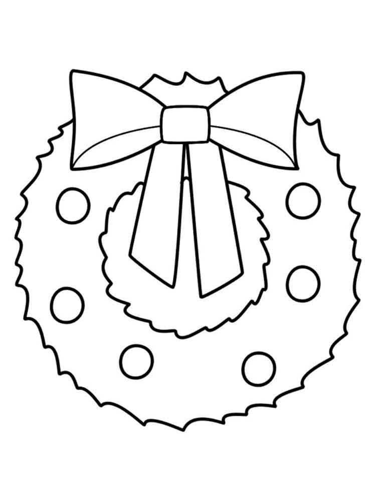 Wreath Coloring Pages Free Printable Wreath Coloring Pages