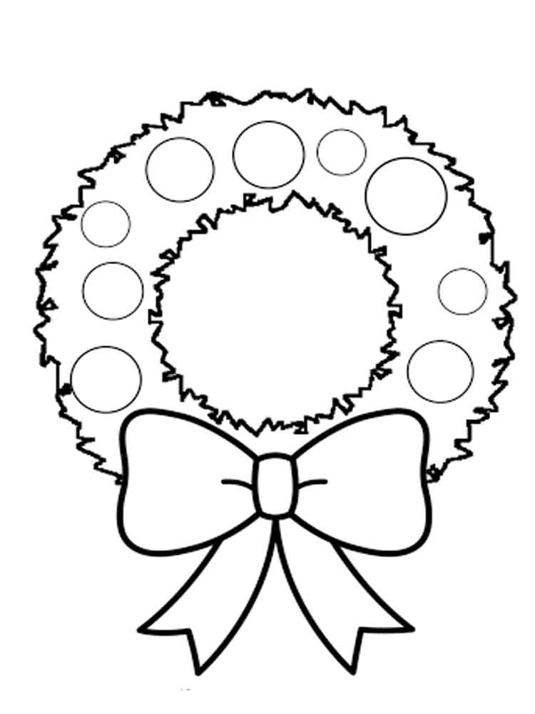 Wreath coloring pages Free Printable