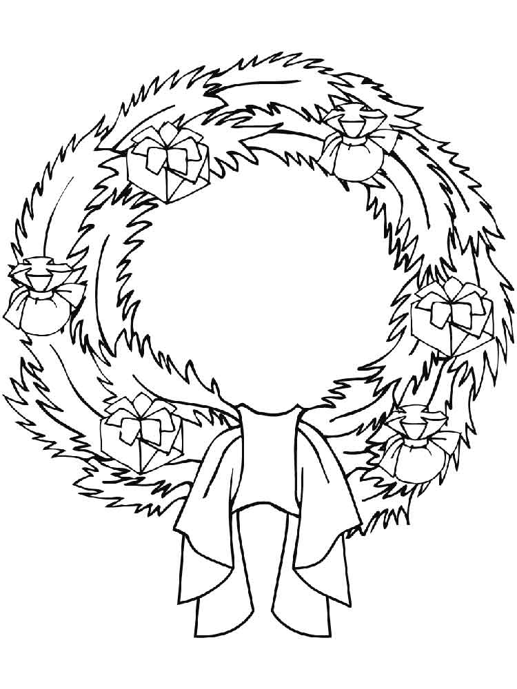 wreath coloring pages 14 - Wreath Coloring Page