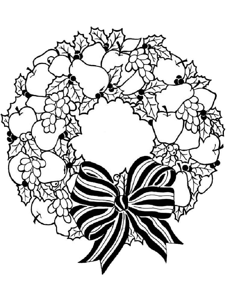 It is a photo of Massif Wreath Coloring Pages