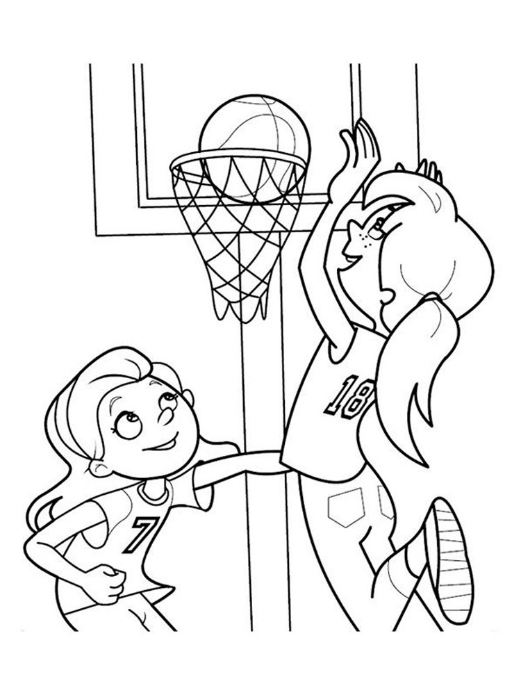 Basketball Coloring Pages. Download And Print Basketball Coloring Pages