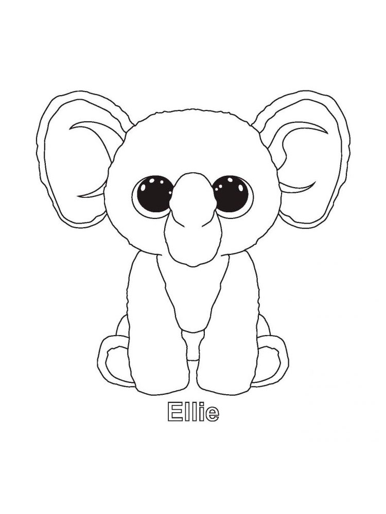 Beanie Boo Coloring Pages. Download And Print Beanie Boo Coloring Pages
