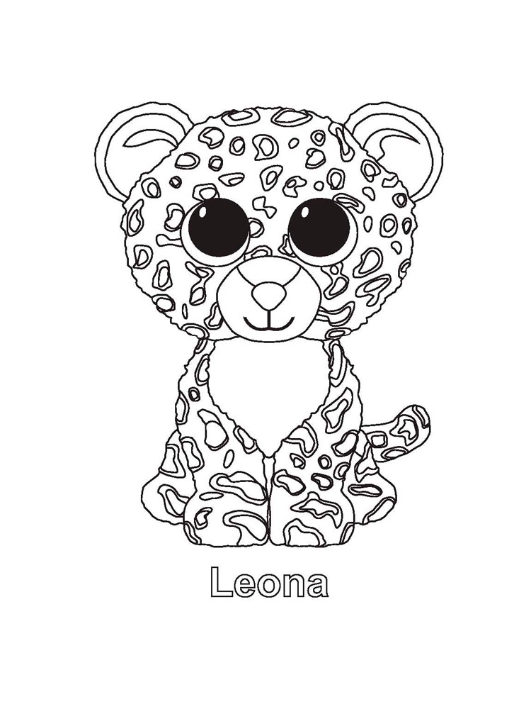 Beanie Boo coloring pages. Download and print Beanie Boo ...