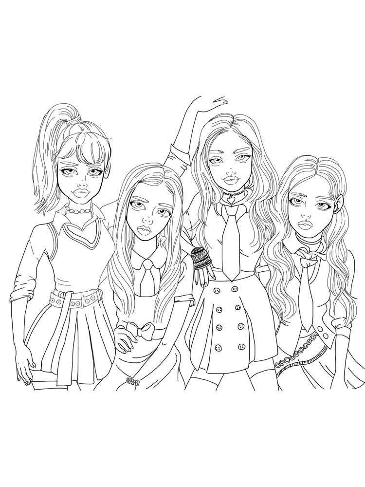 Blackpink Coloring Pages Free Printable Blackpink Coloring Pages