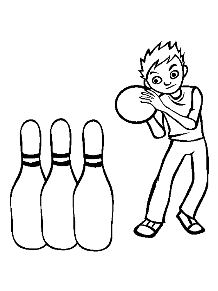 Bowling coloring pages. Download and print Bowling ...