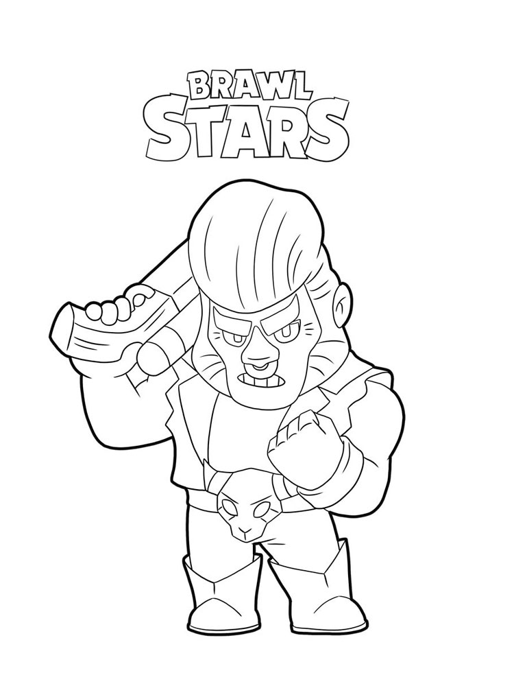 Brawl Stars coloring pages. Download and print Brawl Stars ...
