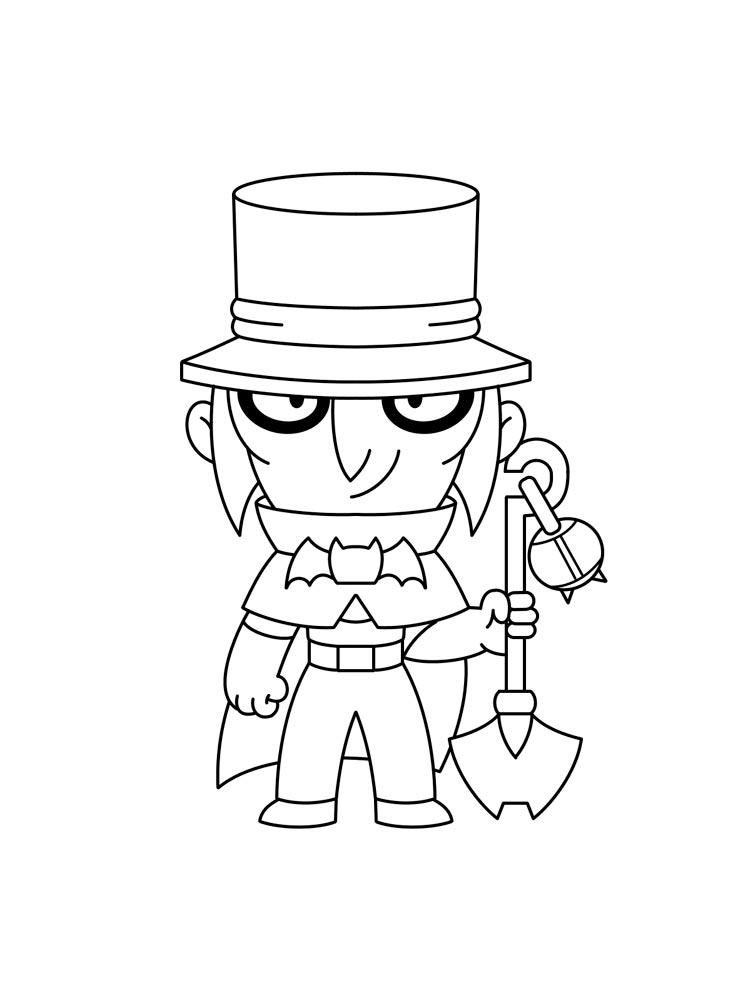 Free Mortis Brawl Stars Coloring Pages Download And Print Mortis Brawl Stars Coloring Pages