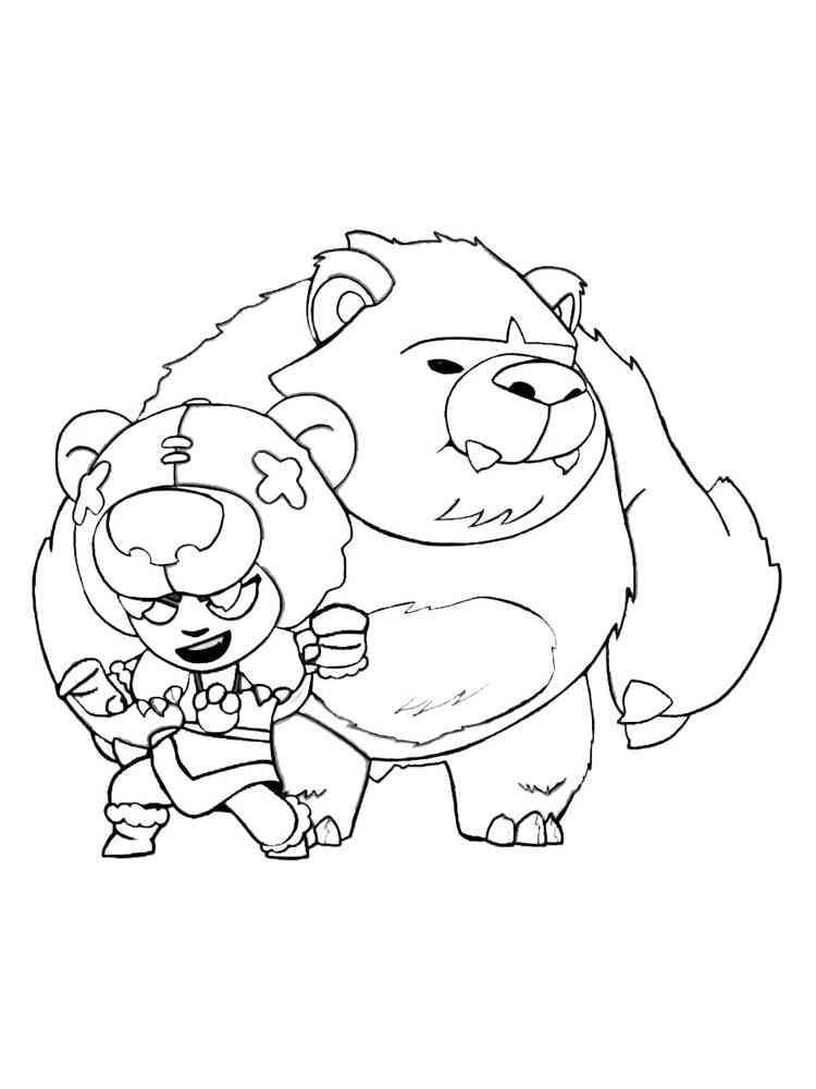 free nita brawl stars coloring pages download and print