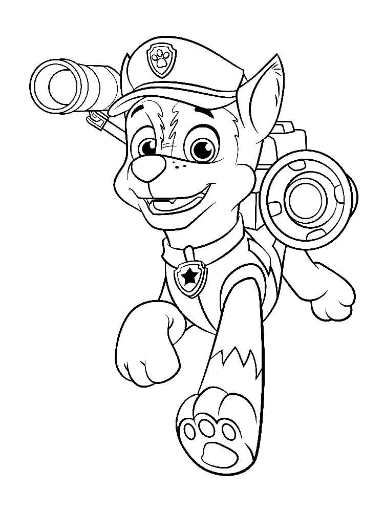 Chase Paw Patrol coloring pages. Download and print Chase ...