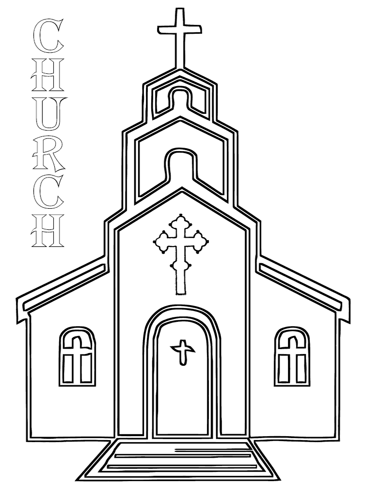 Church Coloring Pages. Download And Print Church Coloring Pages