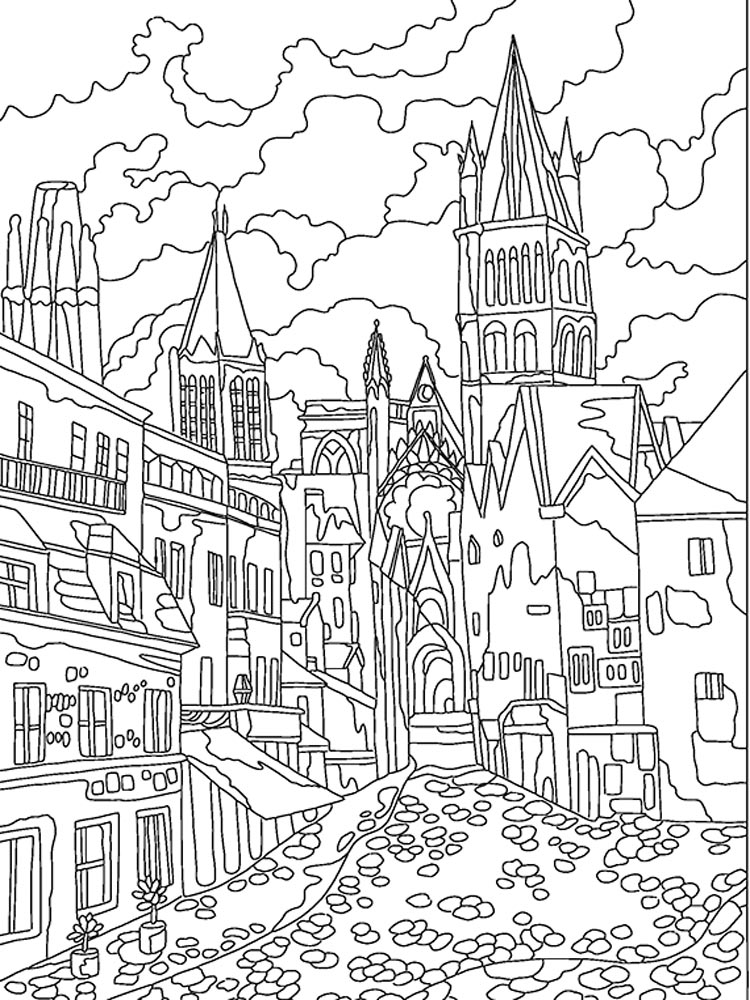 City coloring pages Download and print City coloring pages