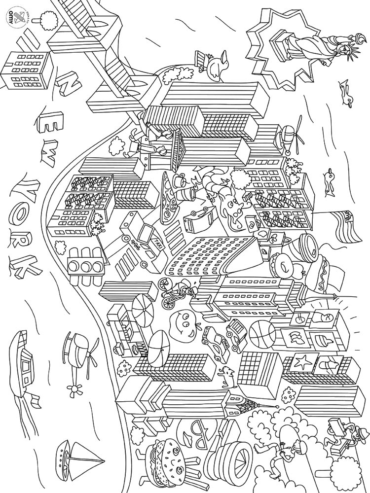 City coloring pages. Download and print City coloring pages.