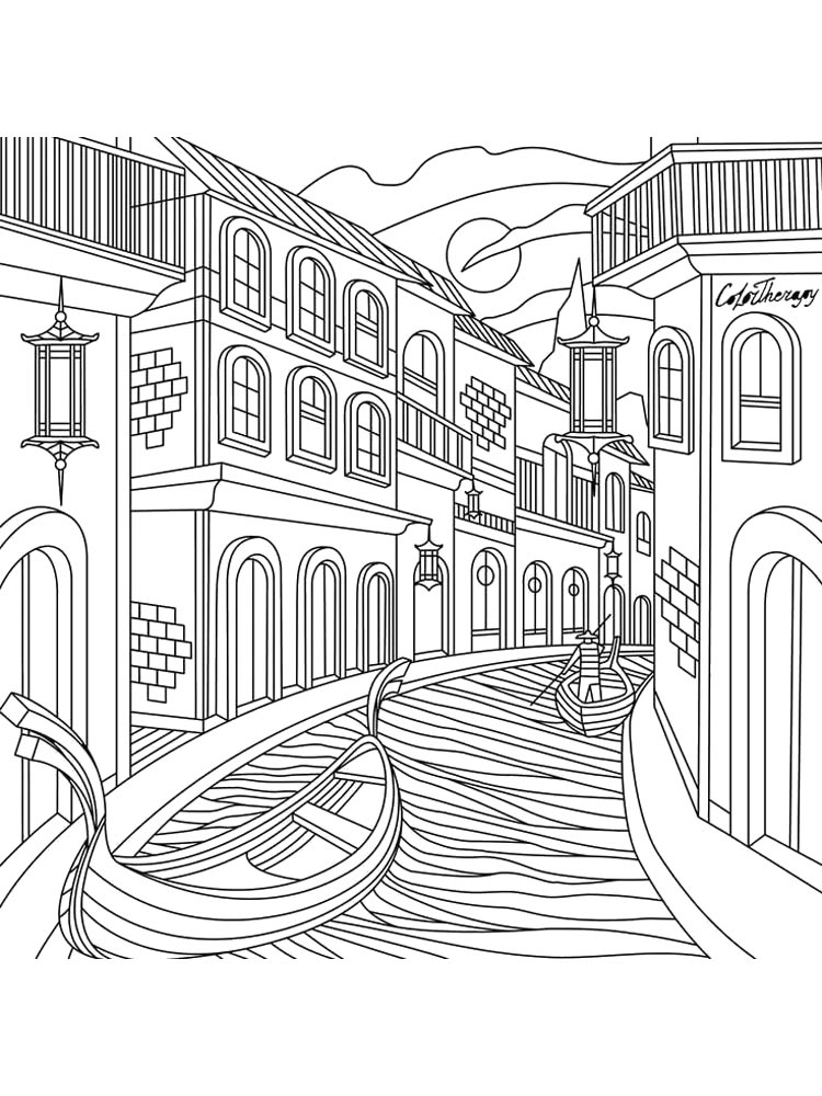 City coloring pages Download and