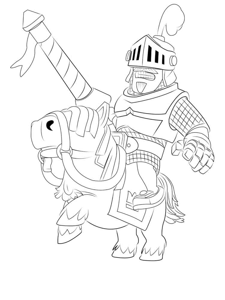 Clash Royale coloring pages. Download and print Clash ...