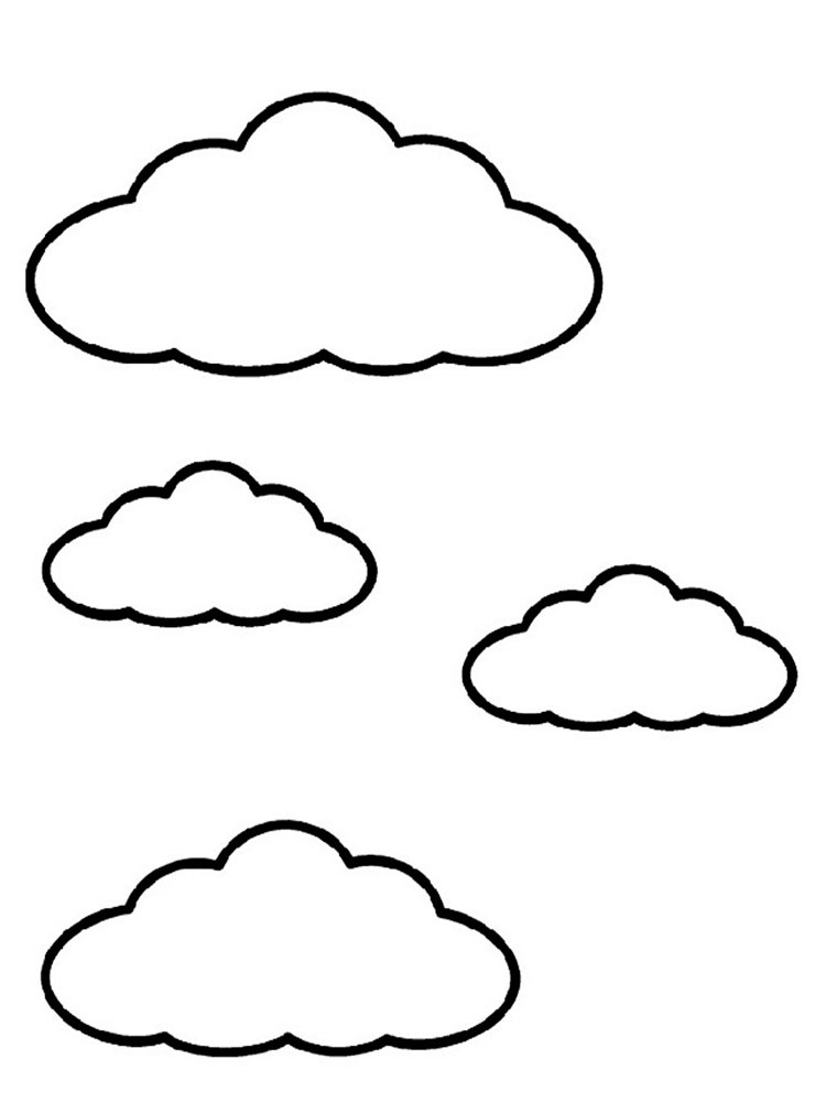coloring pages of sun and clouds printable design